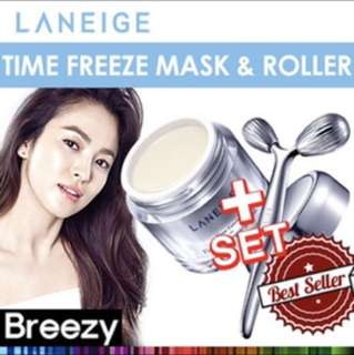LANEIGE time freeze firming sleeping mask and roller