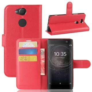 Flip Case for Sony Xperia XA2 Ultra  (Black, Red)