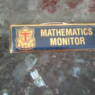Maths Monitor Badge From HIPS School