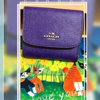 Coach short wallet in purple