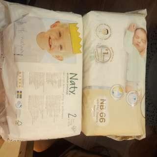 Naty Diapers Size 2 Huggies NB