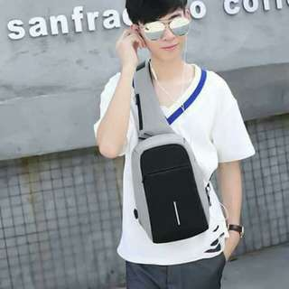 Anti-theft bag free usb data wire with headset hole