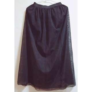 🚚 雙層網紗透視裙 #畢業一百元出清