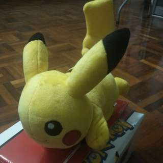Limited edition Pikachu shoulder plush