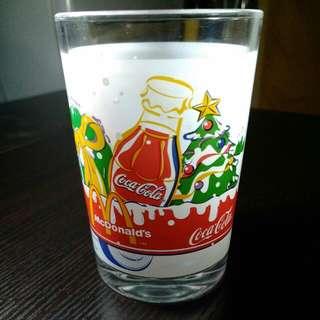2001麥當勞mcdonals's x cocacola玻璃杯絕版