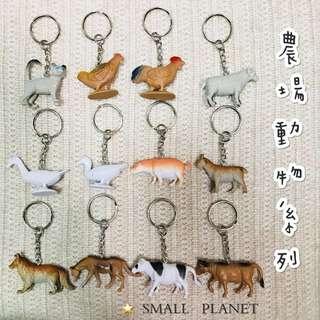 🚚 農場動物鑰匙圈🔑 SMALL PLANET⭐️ 喵星人 貓奴 綠野仙蹤 我不笨,所以我有話說 小豬寶貝 金雞獨立