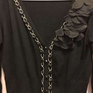Stylish black cardigan, goes well with anything!