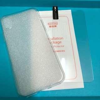 Torras 圖拉斯 iphone x 透明手機套 連 手機保護貼