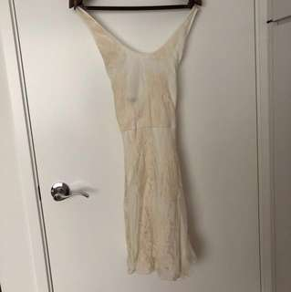 the Letter creamy white lace dress