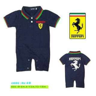 Ferrari Boy Romper Short Sleeve Onesies
