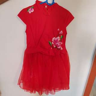 Chinese New Year kids Dress
