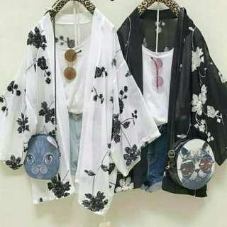Kimono cardi silk