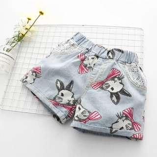 Baby rabbit denim short