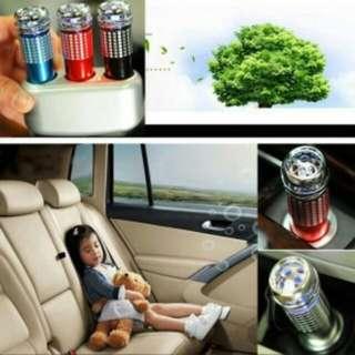 Black Mini Auto Air Purifier Oxygen Bar Car Interior Purification 12V