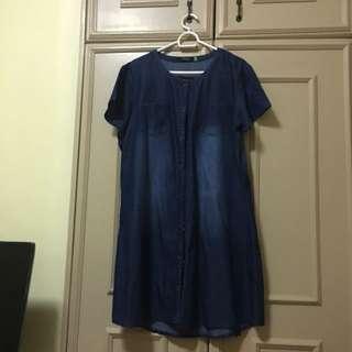 Maong Dress button down