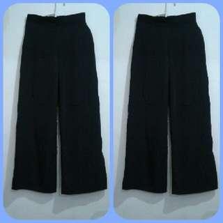 Celana Panjang Black Kulot -kodeCL028