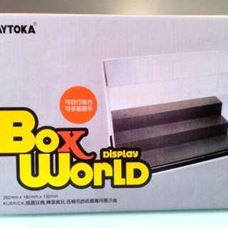 模型 扭蛋 展示盒 三層 亞加力 Display Box World 置物箱