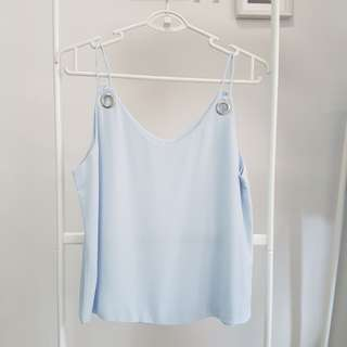 Baby Blue Double-Strap Cami Top