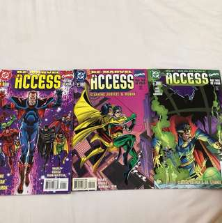 DC / Marvel all access #1 to #3 1996