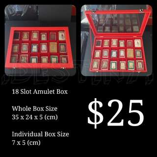 Red 18 Slot Amulet Box (Brand New)