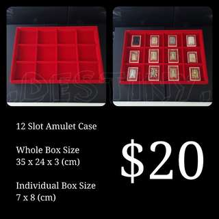 Red 12 Slot Amulet Casing (Brand New)
