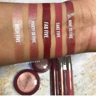 INSTOCK LIMITED EDITION Colourpop Take Five Ultra Matte Liquid Lipstick