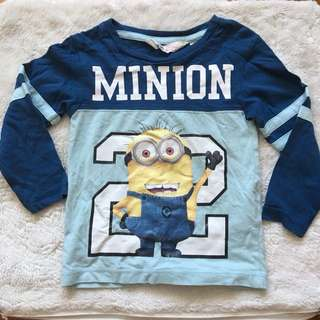 H&M Minion Long Sleeve Top
