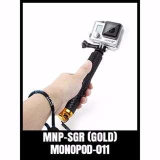 MNP-SGR (GOLD) Extendable Monopod Selfie Handheld Stick