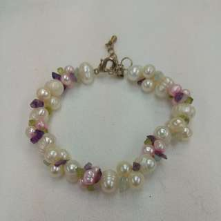Fresh Water Pearl with Quartz Bracelet