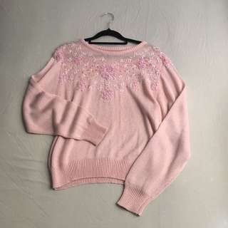[SYDNEY] Pink Knitted Sweater