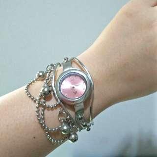 Arloji wanita /jam tangan wanita model gelang / bangles