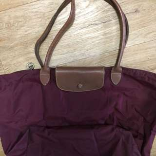Red Violet Long Handle Medium Longchamp