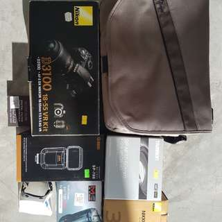 Nikon D3100 with lenses and other items
