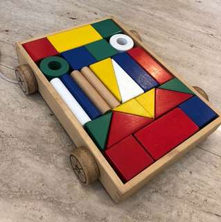 Wooden Blocks pull along toy