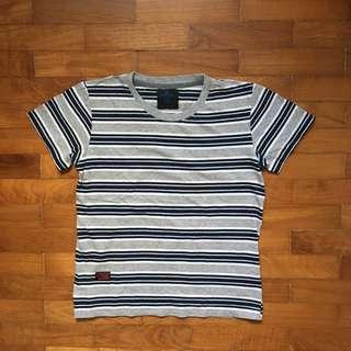 Criss Cross Stripe T Shirt