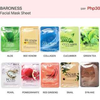 Baroness Assorted Mask Sheet (10 pcs)