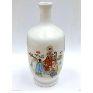 Vintage 1990s Fu Lu Shou 福祿壽 Chinese Porcelain Vase