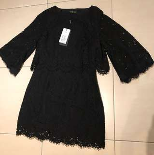 New Black Lace Dress with tag