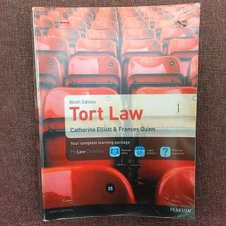 Tort Law Textbook Catherine Elliott A Levels and LLB