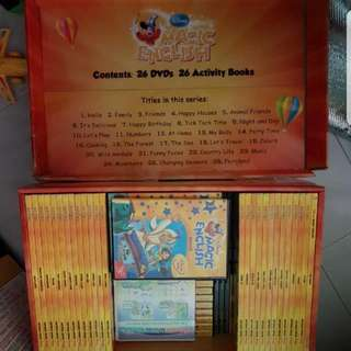 GROLIER Magic ENGLISH book And VCD Complete Set #26