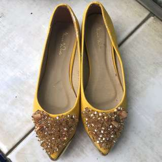 Nine west Sepatu Kuning ORI