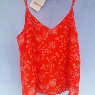 Cotton On Flower Orange Camis