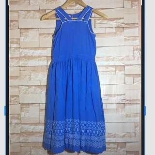 Lemon Kiss Blue Dress for girls