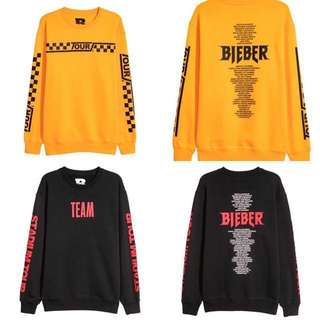 Justin bieber purpose stadium tour merch hnm sweater hoodie
