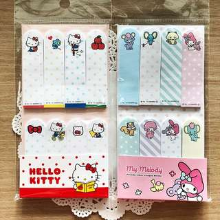 BN Authentic Sanrio Hello Kitty / My Melody Post It Pads