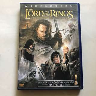 Lord of the rings 3 dvd region 1