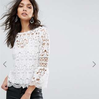 🚚 River Island Star Lace Top