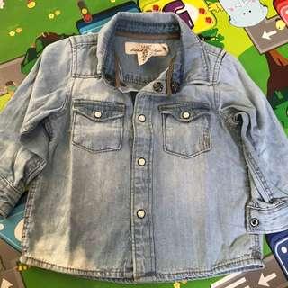 Kemeja Jeans baby H&M