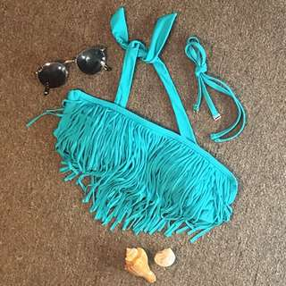 COCO CABANA Fringe 2-in-1 Bikini  Padded Top (S)