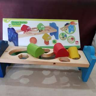 Shape sorter roller beach